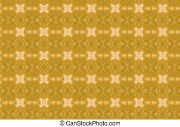 abstract, gele achtergrond, kaleidoscope