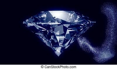 Abstract gem in dark blue