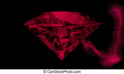 Abstract gem in dark red