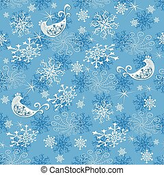 Abstract gentle blue Christmas pattern