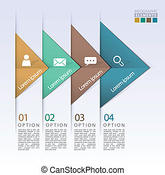 abstract geometric arrow flow infographic elements