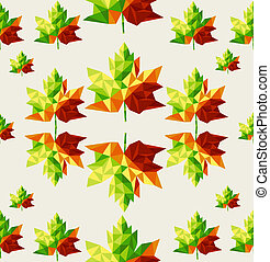 Abstract geometric autumn tree leaves seamless pattern background. EPS10 vector file organized in layers for easy editing.