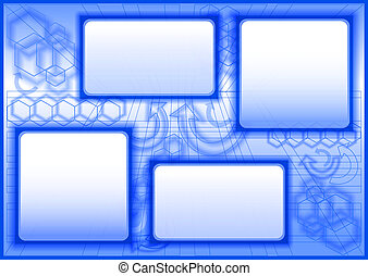 abstract geometric background - 09 - blue business...