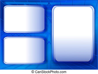 abstract geometric background - 10 - blue business...