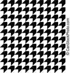 Black and white houndstooth pattern vector. - Abstract...