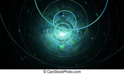 Abstract Geometric Background. Concept For Sci-Fi, Futuristic And Outer Space