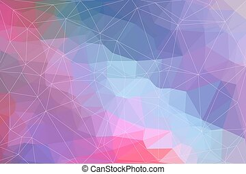 Abstract geometric background consisting of colored triangles.