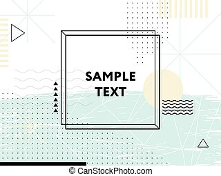 Abstract geometric background. Design elements
