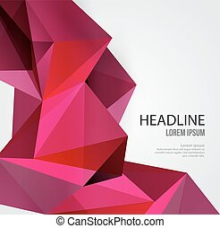 Abstract Geometric Background Design - Vector Abstract ...