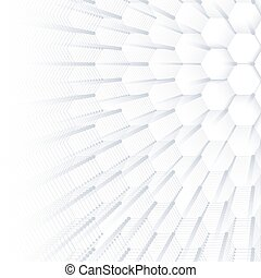 Abstract geometric background, hexagonal vector texture. Big data visualization and communication background. Graphic background social networking. Vector illustration.