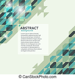 Abstract geometric background in green tones