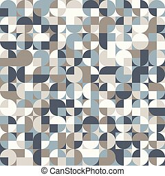 Abstract geometric background in neutral colors. Seamless vector pattern.