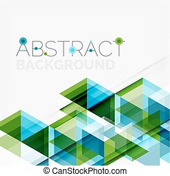 Abstract geometric background. Modern overlapping triangles....