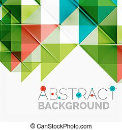 Abstract geometric background. Modern overlapping triangles