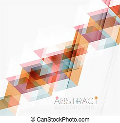 Abstract geometric background. Modern overlapping triangles...
