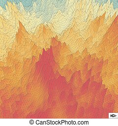 Abstract Geometric Background. Mosaic Vector Illustration.