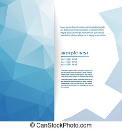 abstract geometric background of blue