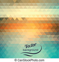 Abstract geometric background of the triangles. Pastel color. The illusion of sea and sky. Place your own text on top of the image