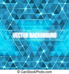 Abstract geometric background with glowing triangles.