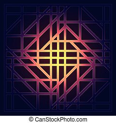 Abstract geometric background with graphic visualization of data, interaction, science, technology. Futuristic structure of information links