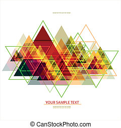 Abstract Geometric Background with place for your text