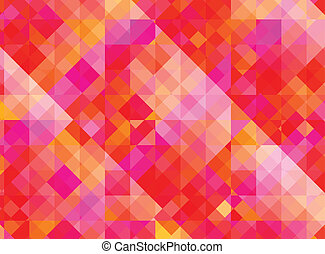 Abstract geometric background with red and purple tiles