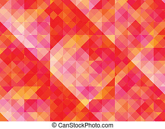 Abstract geometric background with red and yellow tiles