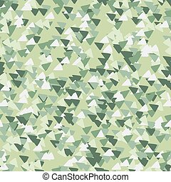 Abstract geometric background with triangles in camouflage style. Seamless khaki pattern.