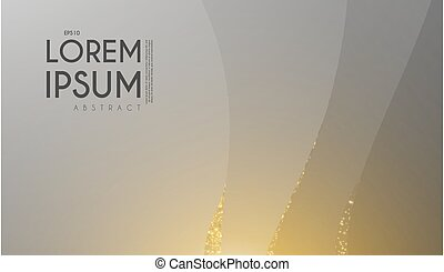 Abstract geometric background with wave motion and gold light.