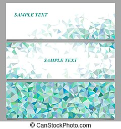 Abstract geometric banner template design set