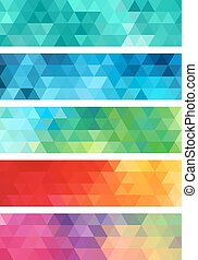abstract geometric banner, vector