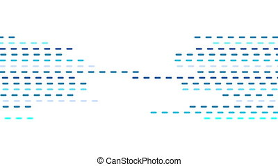 Abstract geometric blue dotted lines video animation -...