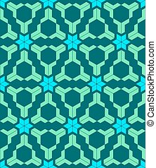 abstract geometric blue green seamless pattern