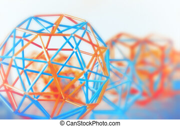 Abstract Geometric Blurred Background