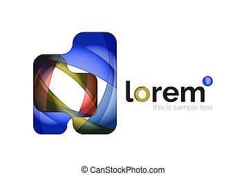 Abstract geometric business icon