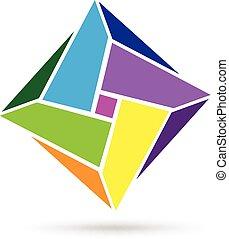 Abstract geometric business logo