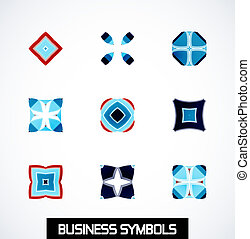 Abstract geometric business symbols. Icon set