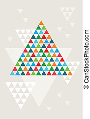 Abstract geometric Christmas tree,