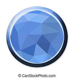 Abstract geometric circle button