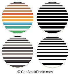 Abstract geometric circle element in 4 color