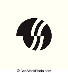 abstract geometric circle logo vector