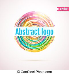Abstract geometric circle logo with space for your text