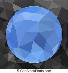 Abstract geometric circle.