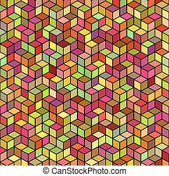Abstract Geometric Color Seamless Background. Vector