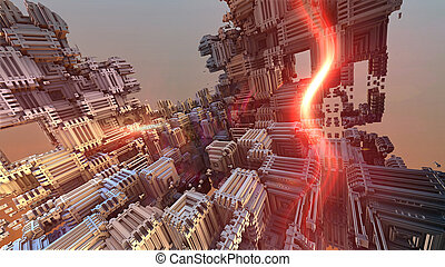 composition - abstract geometric composition 3d illustration