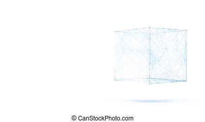 Abstract geometric composition from chaotic slow moving dots...