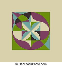 Abstract geometric design. Applicable for banners, placards,...