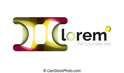 Abstract geometric design logo made of flowing elements,...