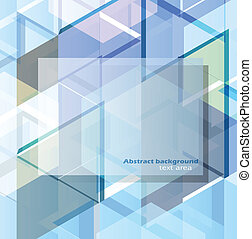 Abstract geometric design template