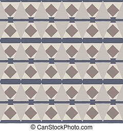 Abstract geometric ethnic seamless vector pattern in stone colors